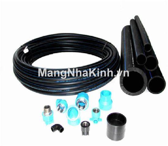Ống dẫn nước tưới nhựa cứng HDPE (ống đen sọc xanh)